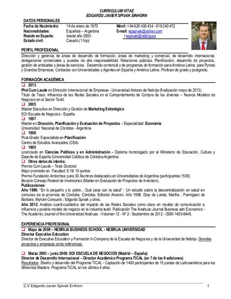 Modelo Cv Espa A Descargar proforma curriculum vitae en espa ol pay for essay