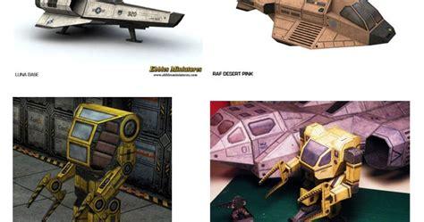Sci Fi Papercraft - ninjatoes papercraft weblog sci fi tabletop gaming