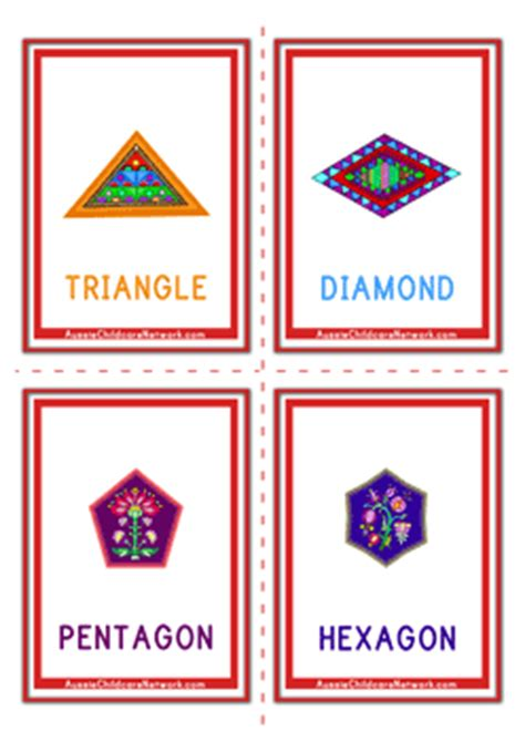 shape flash cards templater shapes flashcards design aussie childcare network