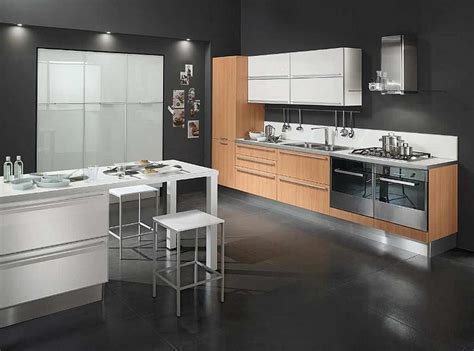 modern black kitchen modern flooring concepts decosee com