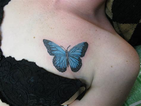 titty tattoo butterfly on by yourbomber on deviantart