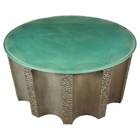 impressive drum shaped fluted coffee table by steve