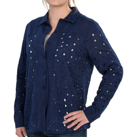 beatrice ii eyelet tie shirt navy august silk options eyelet shirt sleeve for