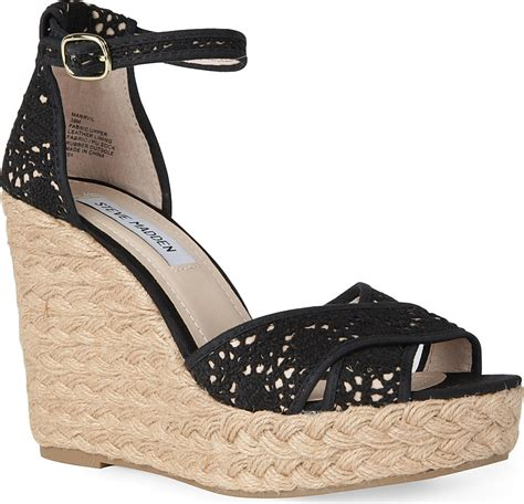Steve Madden Wedges For by Steve Madden Marrvil Crochet Wedges In Black Lyst