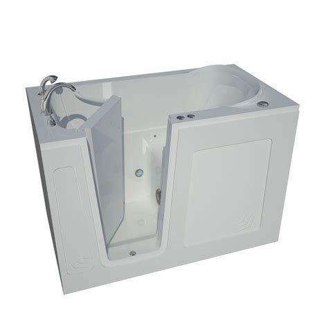 walk in bathtub with jets universal tubs 4 5 ft left drain walk in whirlpool bath tub in white hd2653lwh the