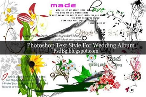Wedding Album Fonts by Wedding Text Style And Clipart Object Psdlab92