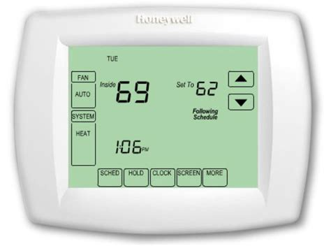 Cool Digital Clock by New Honeywell Th Vision Pro 7 Day Programmable Thermostat