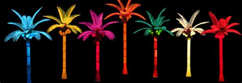 led lighted palm trees pacific lights inc led lighted palm trees buy factory direct