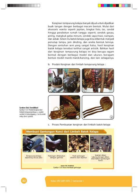 Tas Batok Kelapa Variasi Model Kancing 1 bab i prakarya kelas 8 semester 1