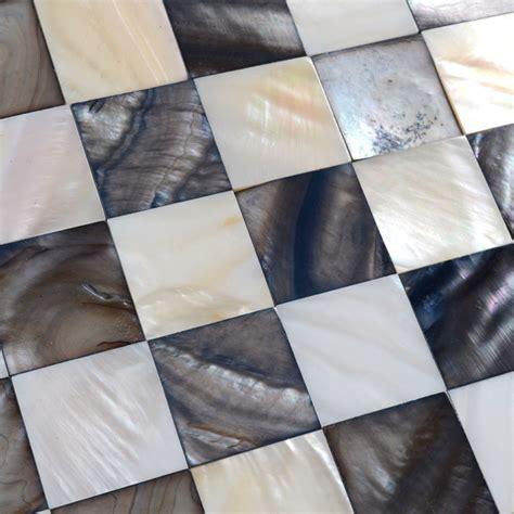 Shell Mosaic Tiles Black & White Mother of Pearl Tile