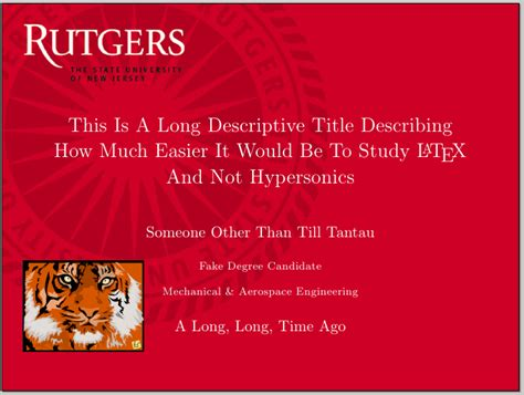 rutgers powerpoint template beamer can i specify title