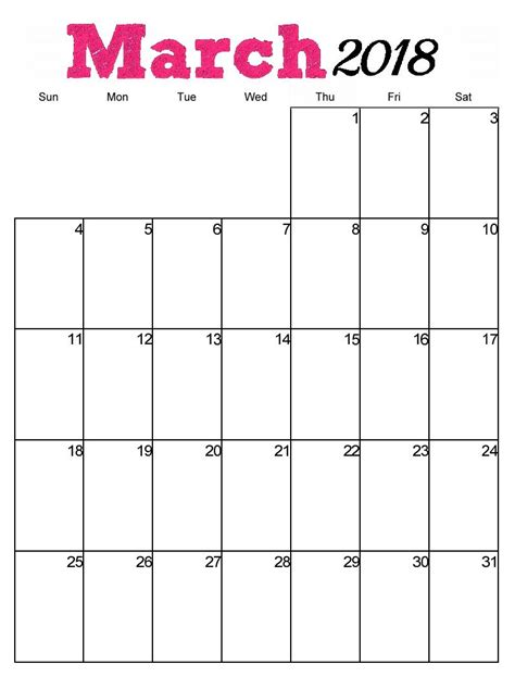 printable vertical planner free printable march 2018 vertical calendar maxcalendars