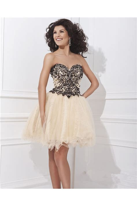 Dress Jersey Grade A Pecah 6 gown sweetheart mini chagne tulle black