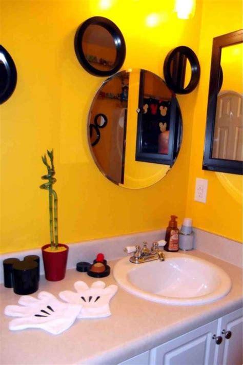 mickey mouse bathroom mirror 25 kids bathroom decor ideas ultimate home ideas