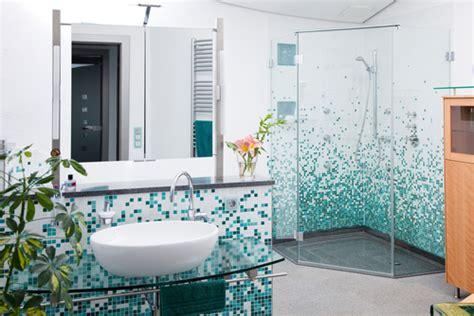 Teal Badezimmerideen by Archiwa Mała łazienka Nowoczesna Instalacja