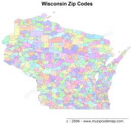 Wisconsin On A Map by Wisconsin Zip Code Maps Free Wisconsin Zip Code Maps