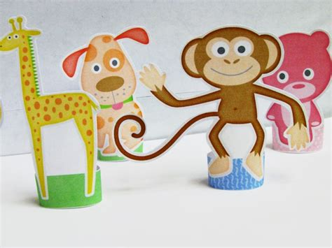 printable zoo animal finger puppets printable craft finger puppets zoo pinterest