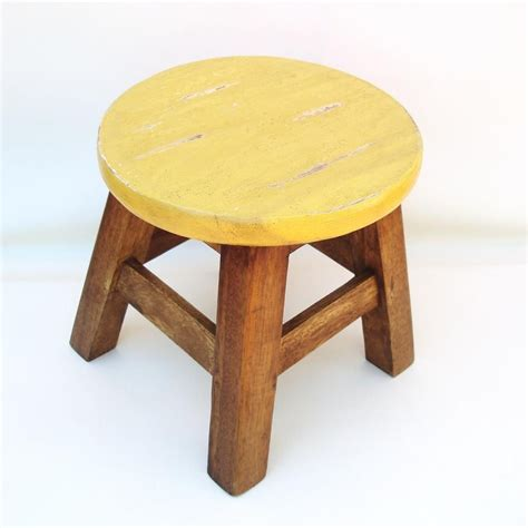 Fashioned Foot Stools by Sold Vintage Wooden Step Stool Foot Stool Bench