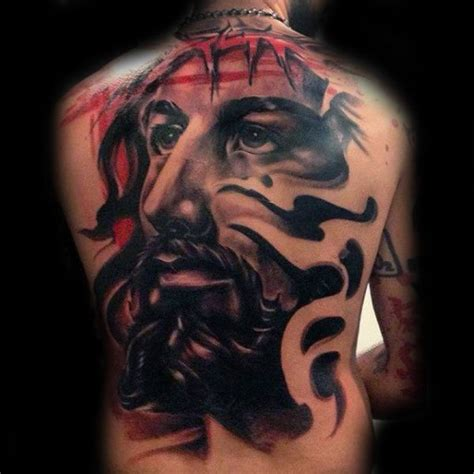jesus 3d tattoo abstract mens 3d jesus back tattoos tatuagens tema
