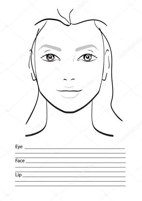 face chart makeup artist blank template stock vector art face chart makeup artist blank template vector