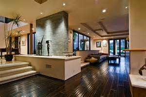 Contemporary Homes Interior by Big Contemporary House With Dark Interior Filled With
