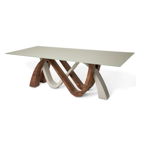 White Glass Top Dining Table Trance Rapture White Glass Top Dining Table By Michael Amini Dining Tables Tr Rptre002 4