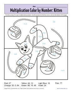 coloring worksheets new calendar template site coloring pages color by number worksheets multiplication