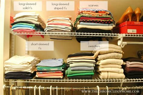 How To Store Shirts In Closet by Closet Organization Without Spending A Dime The