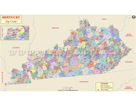zip code map kentucky buy kentucky zip code map