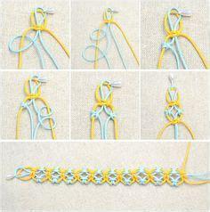 String Designs Step By Step - string bracelets on friendship bracelets