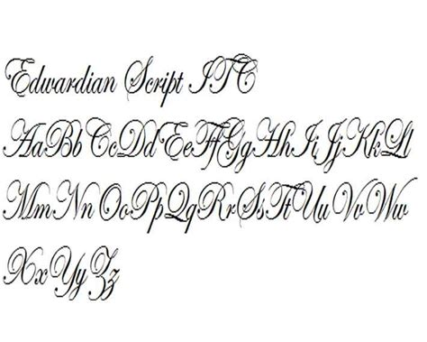 edwardian script itc scripto decorative formal and