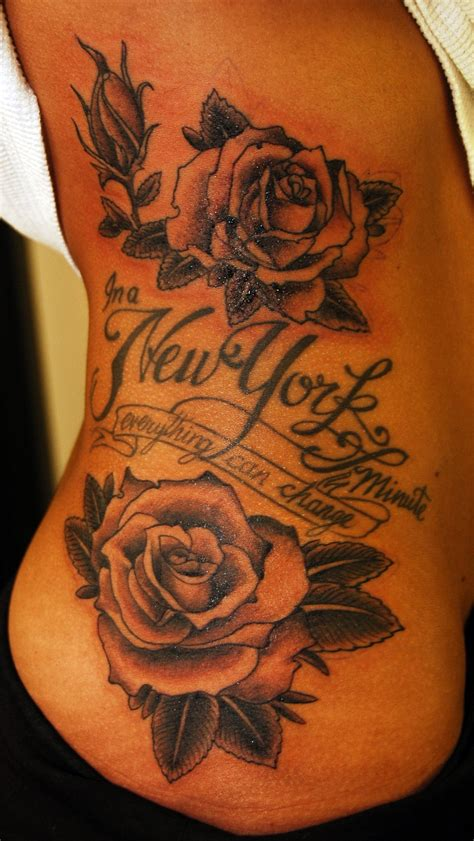 side tattoo roses union jeremytattoos