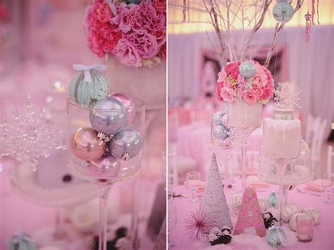 pink winter decorations a whimsical winter birthday one