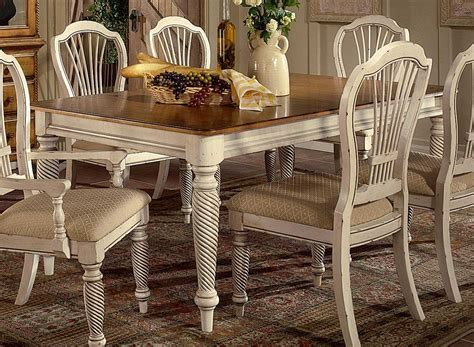 Vintage Dining Room Furniture Hillsdale Wilshire Rectangular Dining Table Antique White Hd 4508 819 At Homelement