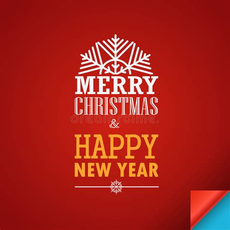 merry and happy new year card template merry and a happy new year greeting card stock