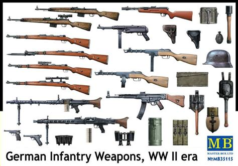 german weapons german military weapons of ww1 ww2 german infantry weapons wwii 1 35 master box 35115