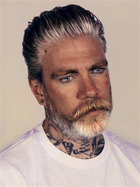 grey hair and beard and tattoos men pinterest beards tattoos gray hair and a beard be still our hearts