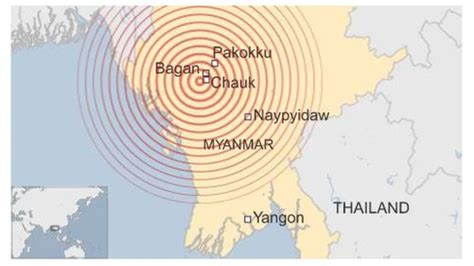 earthquake yangon myanmar earthquake one dead and temples damaged the