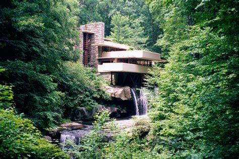 falling waters house fallingwater pictures classic view from path near lookout 2 frank lloyd wright