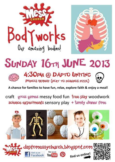 messy church tattoo dapto messy church bodyworks our amazing bodies quot invite