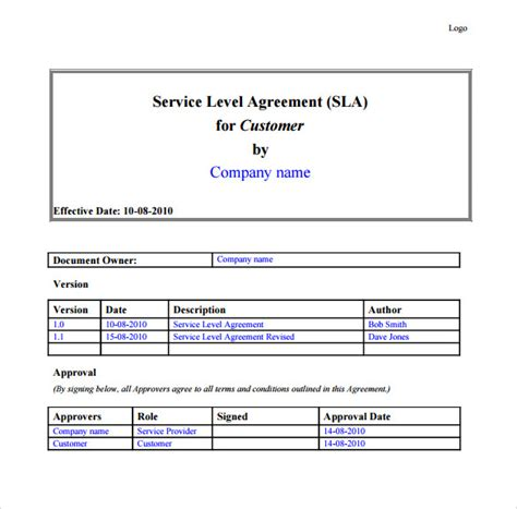 it support service contract template it support contract template 9 documents in