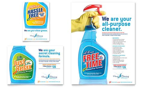 cleaning advertisement template house cleaning housekeeping flyer ad template design