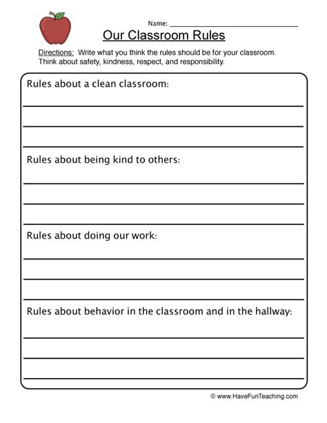 Class Worksheet by Classroom Worksheet