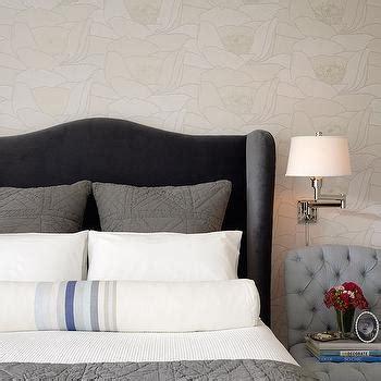 grey wingback headboard wingback upholstered headboard contemporary bedroom