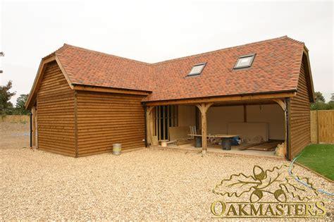l shaped garages oak framed l shaped garage and outbuilding complex 4997