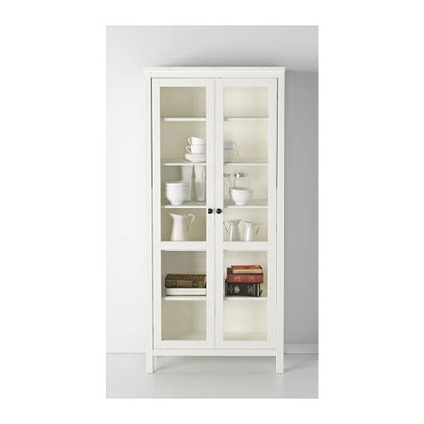hemnes glass door cabinet white stain 90x197 cm ikea