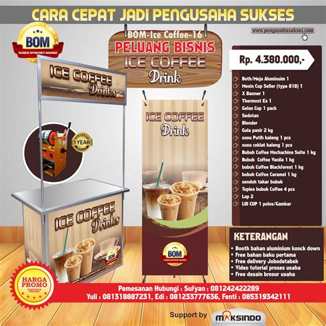 Paket Coffee paket usaha coffee drink program bom toko mesin