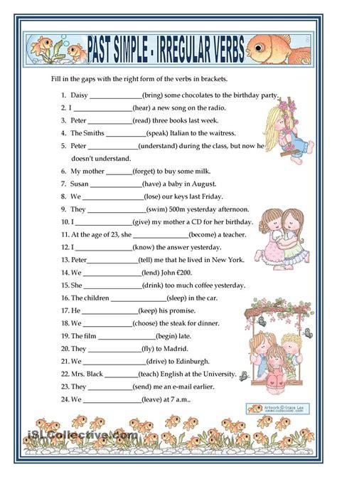 printable english worksheets verb to be past simple irregular verbs free esl worksheets