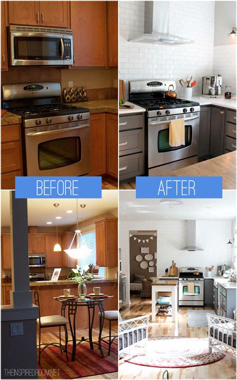 kitchen cabinet colors before after the inspired room kitchen remodel before after reveal the inspired room
