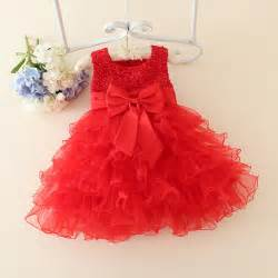 red baby christmas dresses for girls lace pearls girls